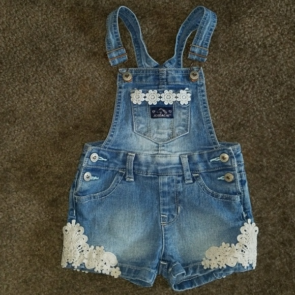 c0e86a0e9b jordache Other - Jordache Toddler Girl Jean Shorts Overalls w  Lace